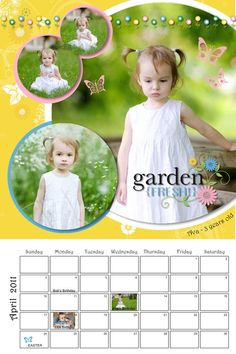 Easter! Cheerful Spring 8x12 Calendar Scrapbook Project Idea from #CreativeMemories    http://www.creativememories.com