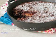 Peanut Butter Snickers Brownie Skillet — Punchfork