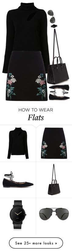 """""""Untitled #6432"""" by miki006 on Polyvore featuring A.L.C., Dorothy Perkins, Gianvito Rossi, Linda Farrow, Yves Saint Laurent and South Lane"""