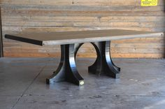 Double Base Liberty Table by Vintage Industrial Furniture