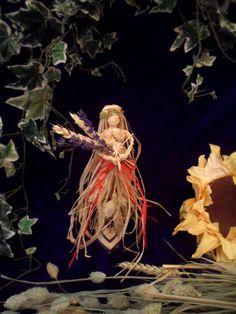 Altar Goddess of Abundance. Corn Dolly, Paganism, Altar, Abundance, Spirituality, Weaving, Christmas Ornaments, Holiday Decor, Crafts