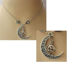 Silver Unicorn Moon Pendant Necklace Jewelry Handmade NEW Chain Accessories #Handmade #Pendant http://www.ebay.com/itm/Silver-Unicorn-Moon-Pendant-Necklace-Jewelry-Handmade-NEW-Chain-Accessories-/162278588623?ssPageName=STRK:MESE:IT