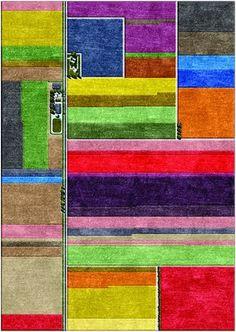 tulip field rug by L