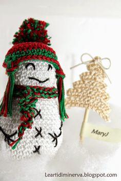 Free Pattern :  Funny snowman Amigurumi by MaryJ Handmade