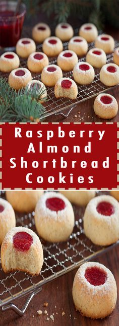 Daily Fast Recipes: Raspberry Almond Shortbread Cookies