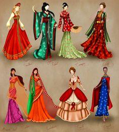 World Culture Costume Series by BasakTinli.deviantart.com on @deviantART