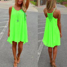 Charlee Cooper Casual Sleeveless Short Mini Dress