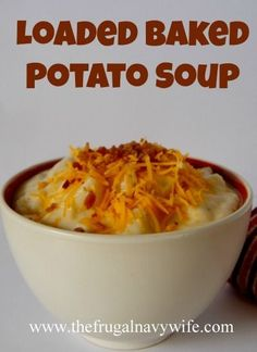 Loaded Baked Potato Soup - made tonight...easy and delicious!