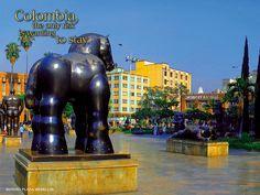 Esculltura de Fernando Botero - Parque Botero en Medellin Colombia