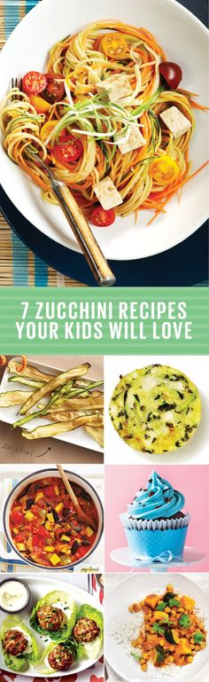 Getting your kids to eat their vegetables sometimes involves thinking outside the box. These zucchini recipes are a great start. Quick Pasta Recipes, Yummy Chicken Recipes, Yum Yum Chicken, Quick Easy Meals, Easy Dinner Recipes, Soup Recipes, Healthy Breakfast Recipes, Healthy Foods To Eat, Healthy Recipes
