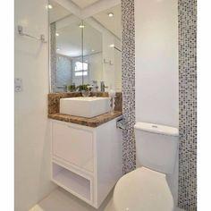 Gabinete P/ Banheiro Padrão Porta de Abrir C/ Nicho - Condomínio Vivenda das Arvores Branco Txt. - BOULEVARD MOBILI