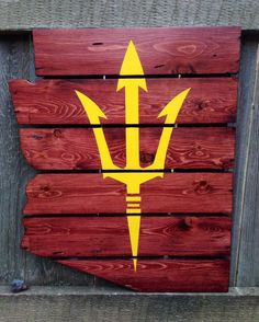 If we did mine, we'd have to do his too .... Recycled Pallet Arizona State Sun Devils