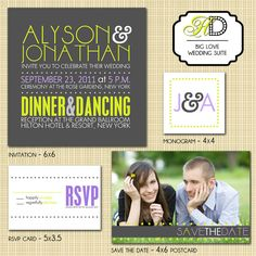 invitations. great design and color combo.