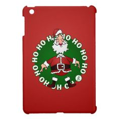 Santa Claus Ho Ho Ho Case For The iPad Mini #Zazzle #Cardvibes #Tekenaartje #Christmas