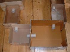 Spielplatz für Hamster aus Kartons