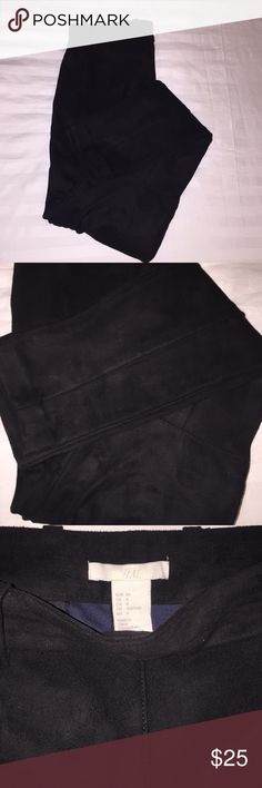 Suede Stirrup Winter Pants New without tags!  Purchased online but too small for me H&M Pants Skinny