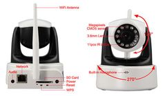Surveillance Cameras - 720P HD Wireless/Wired(WiFi+Lan) IP Pan/Tilt camera for sale in Cape Town (ID:172900643)