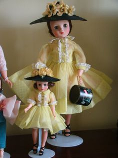 Matching ensembles. Old Dolls, Antique Dolls, Girl Dolls, Baby Dolls, Forever My Girl, Vintage Madame Alexander Dolls, Glamour Dolls, Valley Of The Dolls, Hello Dolly
