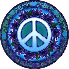 """Signs of Peace Window Sticker - Bring your windows to life with these luminous window stickers.High quality, permanent-stick artwork in beautiful translucent colors. For indoor or outdoor use. For any window, glass door or smooth flat surface. 4.5"""" Diameter."""