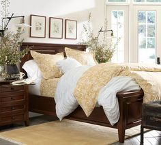 Hudson Bed | Pottery Barn; love the bed, love the bedding and rug!