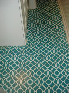 Vinyl floor paint on pinterest painted vinyl floors for Paint vinyl floor bathroom