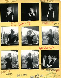 Marilyn Monroe contact sheet on display at the Magnum Photographers Exhibition, Tucson AZ.