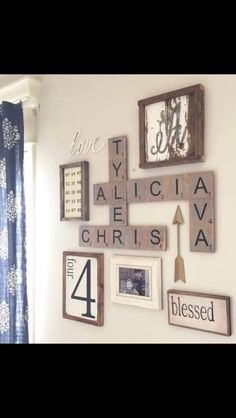 Family scrabble wall art