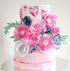 МК Самые простые цветы из вафельной бумаги