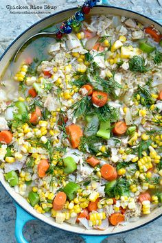 Chicken Rice Soup recipe - great for winter