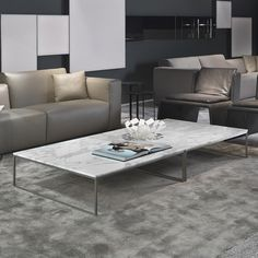 Click The Above Image To U003cbu003eenlargeu003c/bu003e   Like How The Rectangular/square Marble  Coffee Table Pairs Well With The Black Round Accent Tables!