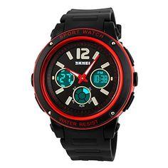 Tangda SKMEI Damen Herren Unisex Armbanduhr Elektronische Sport Uhren Wasserdichte Schule Uhr Child Watch Quarzuhr - Rot - http://uhr.haus/skmei-12/tangda-skmei-damen-herren-unisex-armbanduhr-uhr-4
