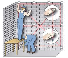 Как Выставить Маяки под Штукатурку [Инструкция] Masonry Work, Brick Masonry, Civil Engineering Construction, Construction Design, Concrete Staircase, Concrete Wall, Villa Plan, Build Your Own House, Modern House Plans