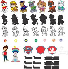 Paw Patrol for Silhouette Studio by RealLifeImagesSVG on Etsy