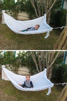 Awesome—make a DIY hammock from a bed sheet