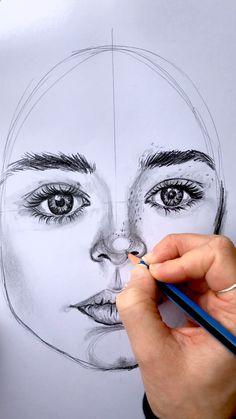 Art Drawings Beautiful, Art Drawings Sketches Simple, Pencil Art Drawings, Realistic Drawings, Drawing Men Face, Human Face Sketch, Drawing Lips, Watercolor Art Face, Pencil Portrait
