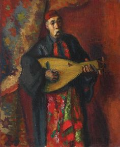 Iosif Iser - Barbu Lautaru (Barbu the Lute player) Contemporary Paintings, Modern Contemporary, Great Paintings, Impressionism, Art Boards, My Arts, Romania, Painters, Montessori