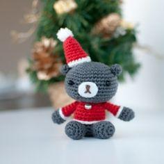 Crochet this cute amigurumi Christmas teddy. Free pattern available. Thanks so xox
