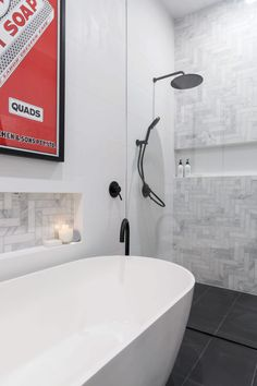 The Block 2016 Week 3 Main Bathroom Reveals - Best Marble bathroom Images Gallery Bathroom Renos, Grey Bathrooms, Laundry In Bathroom, Bathroom Towels, Family Bathroom, Beautiful Bathrooms, Bathroom Renovations, Modern Bathroom, Small Bathroom