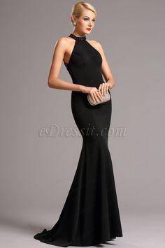 Elegantes schwarzes Formal Kleid Abendkleid (00161300)