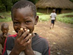 la sonrisa de un niño africano