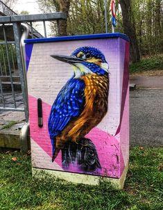 Smok in Berchem, Antwerpen, Belgium, 2018 3d Street Art, Street Artists, My Canvas, Land Art, Public Art, Graffiti Art, Urban Art, Amazing Art, Digital Art