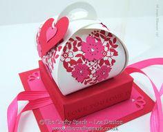 The Crafty Spark: Valentine Curvy Keepsake Bloomin' Love Box with Display Case