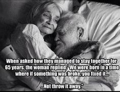 You fix it not throw it away  #relationships #love