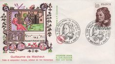 Timbre : 1977 GUILLAUME DE MACHAULT VERS 1300-1377   WikiTimbres