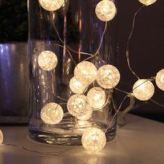 Marble Batteridrevet LED Lysslynge 15 Lys. Svært dekorativ og anvendelig slynge fra Star Trading som kan brukes hele året!