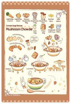 Cartoon Recipe, Recipe Drawing, Cute Food Art, Food Sketch, Chowder Recipes, Food Drawing, Food Illustrations, Aesthetic Food, Diy Food