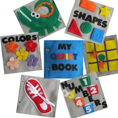 Quiet book page ideas  @Becky Dunn PLEASE make these! :)