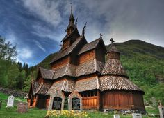 8. Borgund Stave Church - NorwayBuilt around 1180 and is dedicated to the Apostle Andrew. The church is exceptionally well preserved and is one of the most distinctive stave churches in Norway. Some of the finest features are the lavishly carved portals and the roof carvings of dragons's heads. The stave churches are Norway's most important contribution to world architecture and Norway's oldest preserved timber buildings 9. The Nationa