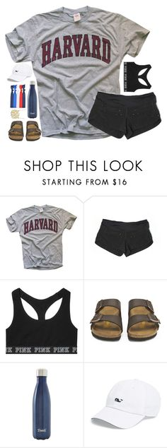 """Untitled #99"" by hannyjep on Polyvore featuring lululemon, Victoria's Secret, Birkenstock, S'well, Vineyard Vines and Popband"