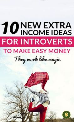 These extra income ideas for introverts work like magic. They easy ways to make money and earn extra money from home and online. Click through here to find out how the side hustles to make easy money . money making ideas l money tips l money management . #moneymaker #moneymakingideas #howtomakemoney #howtosavemoney